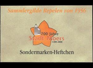 Privates Markenheftchen Sammlergilde Repelen: 700 Jahre Stadt Moers **