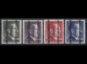 Dt. Besetzung Österreich Grazer Ausgabe Markwerte mit SCHMALEM Balkenaufdruck **