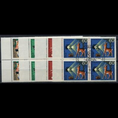 789-792 Wofa Gold- und Silberschmiedekunst 1987, Satz Ecken oben rechts **