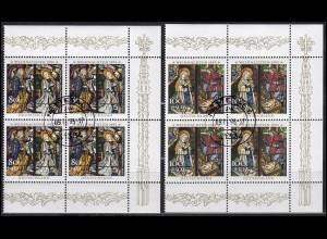 1831-1832 Weihnachten: Viererblock-Satz rechts, zentrischer Vollstempel NETTETAL