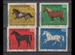 326-329 Jugend Pferderassen 1969 - Satz mit Vollstempel ESSt BERLIN