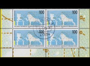 1783 Uni Braunschweig: Rand-Vbl. unten, zentrischer Vollstempel NETTETAL 9.3.95