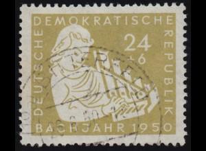 275 Bach 24 Pf mit PLF Strich durch T von DEMOKRATISCHE, BITTERFELD 26.6.50