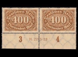 250 Ziffer im Queroval 400 M als UR-Paar mit HAN H 2313.23, postfrisch **
