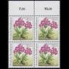 1506F Rennsteiggarten Wulfens Primel 50 Pf. OHNE Fluoreszenz, Oberrand-Vbl. **