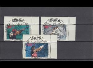 1830 Berliner Mauer: Viererblock rechts zentrischer Vollstempel NETTETAL 9.11.95