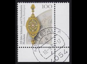 1628 Schmuck- und Uhrenindustrie Pforzheim: Ecke mit FN 1, Rundstempel NETTETAL