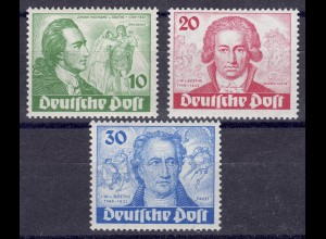 61-63 Goethe-Satz * mit PLF 61I und PLF 63I, sauber *, alle tiefst signiert