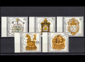 1631-1635 Kostbare alte Uhren: Seitenrand-Satz mit Voll-O Willich mit ET-O 1992