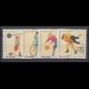 187c Freimarke Arbeiter 100 Pf blassgrün Eckrand-Viererblock unten rechts **