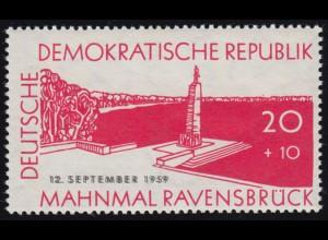 720DD Ravensbrück - Doppeldruck schwarz postfrisch ** geprüft