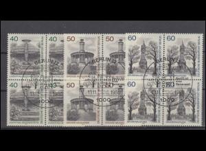 818-821 Gold- und Silberschmiedekunst 1988: Satz Ecken unten links ESSt BERLIN