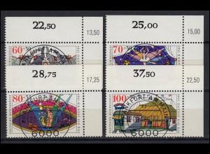 1411-1414 Jugend - Zirkus 1989, 4 Werte komplett - Satz mit KBWZ O FfM