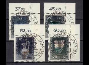 765-768 Wofa Kostbare Gläser - ER-Satz oben rechts mit Vollstempel ESSt BERLIN