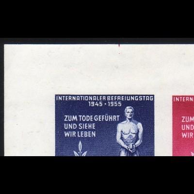 Bl.11 Gedenkstätten - leichte Übergröße mit roter Schnittmarkierung, gestempelt
