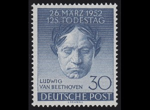 87 Beethoven 1952 - postfrisch ** geprüft Schlegel BPP