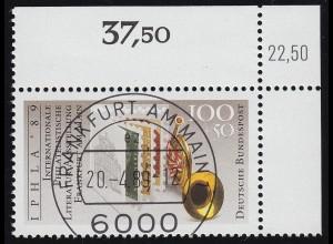 1415 IPHLA 1999: Weltausstellung für philatelitische Literatur - KBWZ O FfM