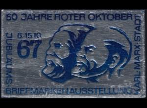 Ausstellungsvignette 50 Jahre Roter Oktober Karl-Marx-Stadt 1967 **