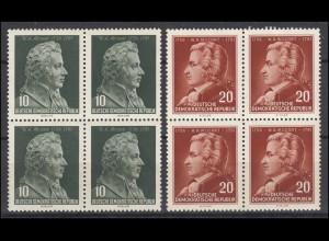 510-511 Komponist Wolfgang Amadeus Mozart 1956 als Viererblock-Satz **