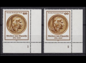 638 Adelbert von Chamisso 1981: 2 Ecken mit FN 1 und FN 2 **