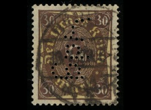 208 Posthorn/zweifarbig 30 Mark, mit Lochung, gestempelt, geprüft Oechsner BPP