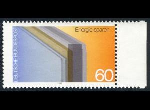 1119 Energiesparen - Verzähnung rechts im Markenbild, postfrisch