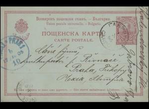 Bulgarien Postkarte 26I Fürst Ferdinand I. GABROWO 1.10.05 nach PRAG 17.10.05