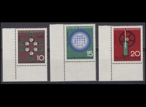 440-442 Technik und Wissenschaft 1964: Satz Ecken unten links **