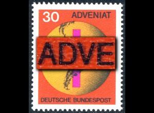 545 ADVENIAT - Schmitzdruck schwarz laut MICHEL-Katalog, ** postfrisch