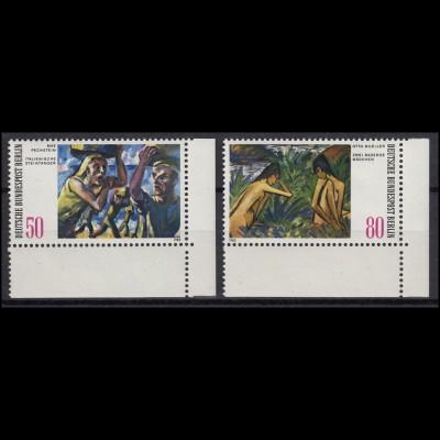 678-679 Gemälde aus Berliner Sammlungen 1982: Satz Ecken unten rechts **