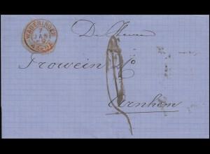 Niederlande Dienstbrief WAGENINGEN 7.1.68 nach Arnhem 8.1.68