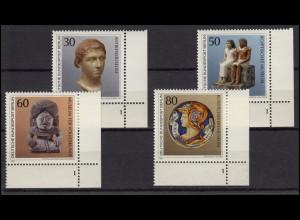 708-711 Kunstschätze in Berliner Museen 1984: Satz Ecken mit FN 1 **