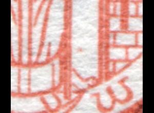 860 Denkmalschutz Alsfeld - überdruckte Papierfalte, **
