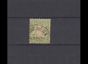 Bayern 37 Wappen 3 Pfennig - Stempel MÜNCHEN I - 8.10. Datum und Monat einzeilig