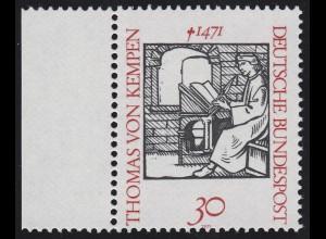674 Thomas von Kempen - Verzähnung durch die Jahreszahl, Randstück **