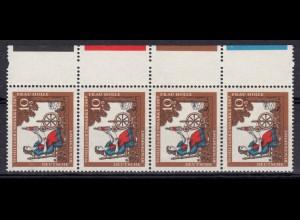 Bayern Dienstmarke 35 Volksstaat 20 Pfennig mit PLF IV weißer Fleck, gestempelt