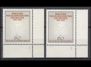 666 Berliner Philharmonie 1982: 2 Ecken mit FN 1 und FN 2 **
