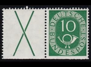 571DDD Wohlfahrt Puppen 10 Pf - Dreifachdruck schwarze Farbe, Oberrandstück, **