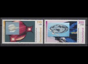Deutschland Hologramm Kosmos - Kometenkolliusion & Gammastrahlung, 2 Werte **