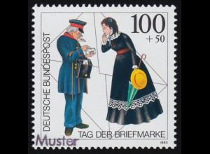 112VII Bundestag 20 Pf. mit PLF VII Dorn am Dachfirst (ohne Delle) Haftstellen *