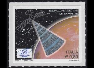 Italien Hologramm Kosmos: Mars-Erforschung & Satelliteneinsatz, selbstkebend **