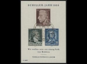 Bl.12XII Schiller-Jahr 1955, SSt Weimar 11.5.1955