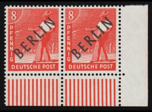 2435 Rittersporn 430 Cent - waagerechtes Paar, ORANIENBURG 28.7.11