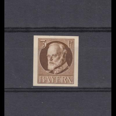 94I Ludwig 3 Pfennig - ungezähnt, ** postfrisch