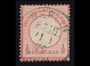 3 Brustschild, Voll-O BERLIN 11.1.1872 - Frühdatum! Kurzbefund Sommer BPP