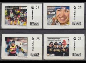 Sporthilfe: Biathlon-WM Ruhpolding 4 selbstklebende Marken marke-individuell, **
