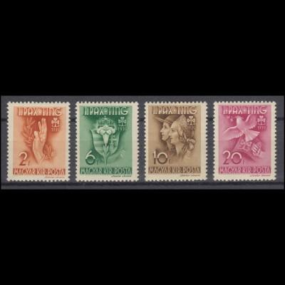 Ungarn: 612-615 Friedenstreffen der Pfadfinderinnen 1939, Satz postfrisch **