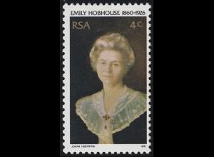 Südafrika / RSA: Emily Hobhouse - Menschenrechtsaktivistin & Portrait, Marke **