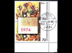 822 Max Beckmann - mit PLF: roter Strich über der 1974, ER-Paar, gestempelt