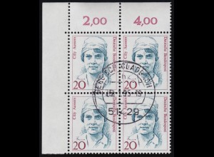 1471 IHK-Weltkongress: Viererblock, zentrischer Vollstempel NETTETAL 21.6.90